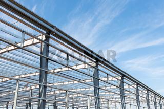 steel structure workshop background