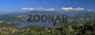 Lake Begnas Tal and Annapurna range