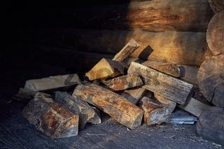 Wood Pile Closeup
