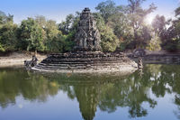 ruins of Neak Pean(12th Century) - religious architecture landmarks buildings complex near Siem Reap