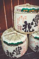 Kazaridaru barrels in Kyoto, Japan