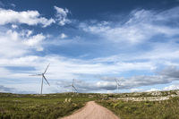 Windmills on the Sierra Carape in the Maldonado Department, Uruguay