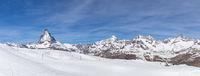 Panoramic view of Matterhorn
