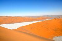 Deadvlei von der Düne von oben Namibia