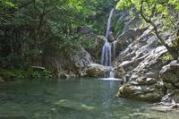 Forest Small Lake with Cascade, Zagorochoria, Greece