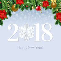 2018 Happy New Year  Card