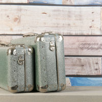 Vintage travel suitcases
