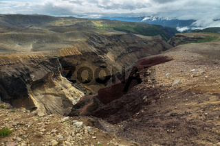 Dangerous Canyon near Mutnovsky volcano in Kamchatka.
