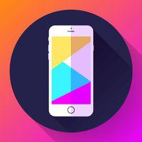Mobile phone icon, phone icon vector