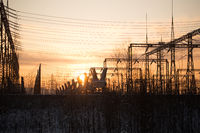 Electrical substation.