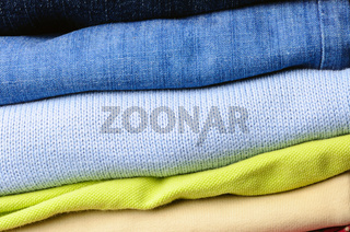 stack of men's clothing