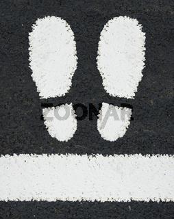 Road Markings Feet