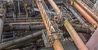 rusty industrial scenery
