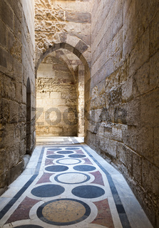 The passage leading to the Courtyard of Sultaan Qalawun mosque