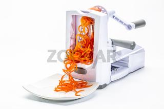 fresh raw carrot spiralized (spaghetti)