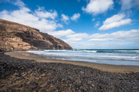 Playa De Orzola beach, Lanzarote, Canary Islands, Spain