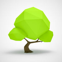 a low poly tree background