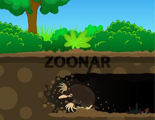 Mole Dig Cartoon