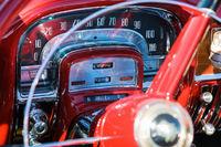 Speedometer in a classic American car