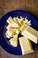 Chopped white chocolate.
