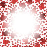 Romantic Red Heart Seamless Pattern