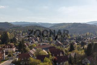 Stadtbild von Wernigerode im Harz Gebirge