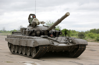 Bulgarian army battle tank