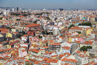 view on travel Lisbon from castle sao jorge