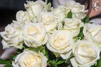 Weiße Rosen als Brautstrauß