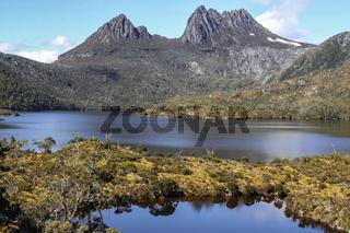 Beautiful mountain scenery, Dove Lake, Cradle Mountain NP, Tasmania