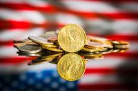 One dollar coin.