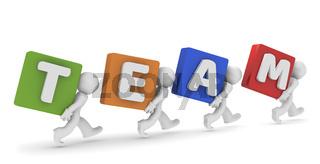3d Teamwork Konzept