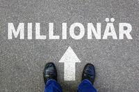 Millionär reich Reichtum Erfolg erfolgreich Karriere Business man Konzept Businessman