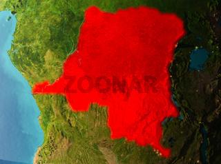 Orbit view of Democratic Republic of Congo