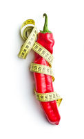 Red pepper and measuring tape.