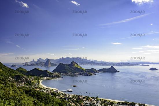 View of Rio de Janeiro skyline from Niteroi