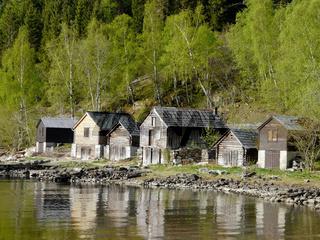 Bootshaus am Fjord