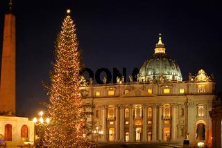 Rom Petersplatz Weihnachten