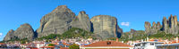 Panoramic view of The Meteora rocks