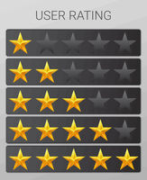 Rating stars set. Web or mobile User feedback concept.