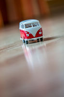 Small toy car on the room floor