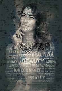 Beautiful woman. Digital art.