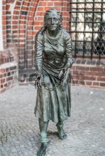 Grete Minde-Denkmal in Tangermuende