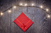 Christmas light and gift box