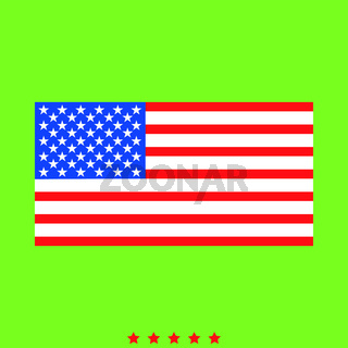 American flag icon . Different color . American flag icon . Different color .