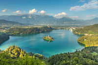 Panoramic view of Lake Bled, Slovenia