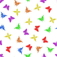 Colorful Butterfly Silhouette Seamless Pattern