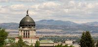 Panoramic View Capital Dome Helena Montana State Building