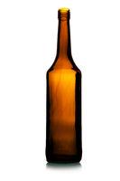 Empty tall wine bottle