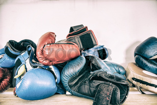 Tested time and training boxing gloves, boxing accessories, workout